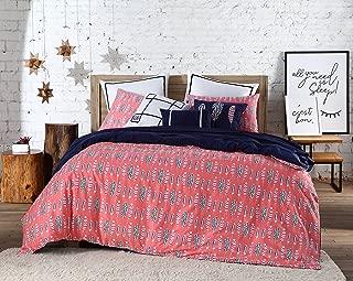 VCNY Home Clairebella Navajo 200 TC Cotton Reversible Duvet Set Cover Set, Twin XL, Multi, 2 Piece