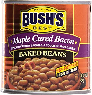 maple cured baked beans