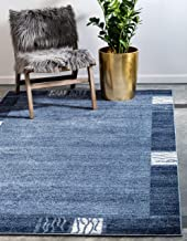 Unique Loom Del Mar Collection Contemporary Transitional Light Blue Area Rug (3' 3 x 5' 3)