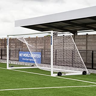 Forza Alu110 Soccer Goal (12ft x 4ft to 24ft x 8ft) – Choose Your Soccer Goal Fixing Type - Freestanding (Not Fixed) Or Socketed (Fixed) Aluminum Soccer Goals [Net World Sports]