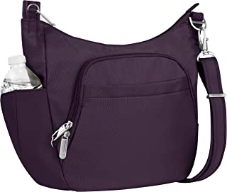 Travelon Anti-Theft Classic Crossbody Bucket Bag, Purple (Purple) - 42757-150