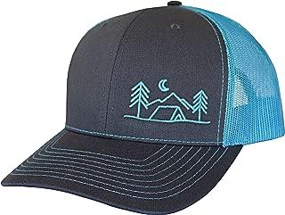 ThreadBound Outdoor Trucker Hat Snapback - Tent Camping Design