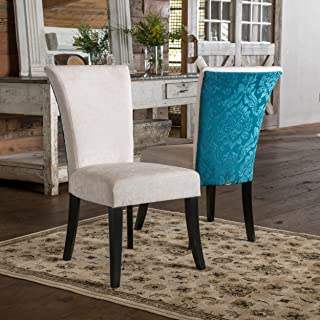 Christopher Knight Home Stanford Dining Chair (Set of 2), Ivory and Teal