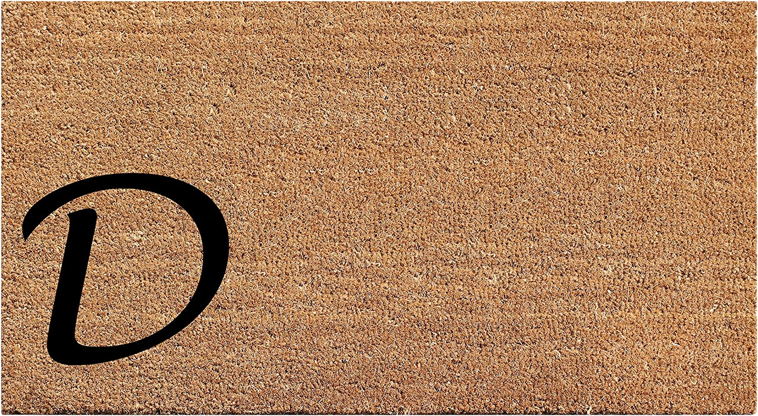 A1 HOME COLLECTIONS Doormat First Impression Plain Coir Monogrammed-D, 18 x30 (A1HOME200021-1-D)