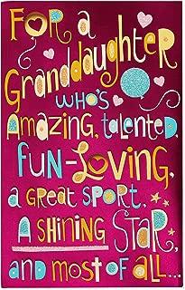 American Greetings Birthday Card for Granddaughter (Shining Star)