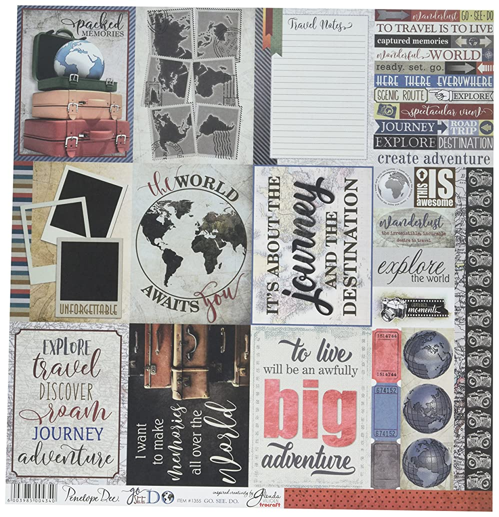 Penelope Dee Go See Do Double-Sided Cardstock 12