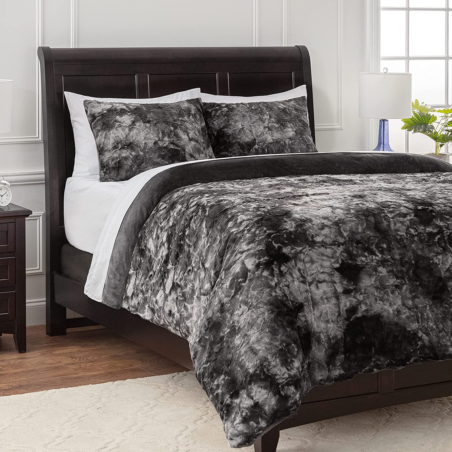 Chanasya 7-Piece King Max 71% Some reservation OFF Duvet Cover Set M Faux Wolf Bohemian - Fur