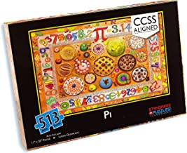 Standards in Puzzles Common Core Pi Jigsaw Puzzle with Downloadable Station Activities and Lesson Plan for Middle School Math - Circumference and Area of a Circle 513 pcs.