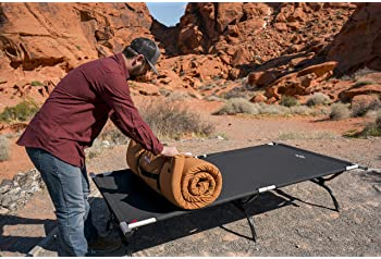 TETON Sports Outfitter XXL Camping Cot; Camping Cots for Adults; Folding Cot Bed; Easy Set Up; Storage Bag Included
