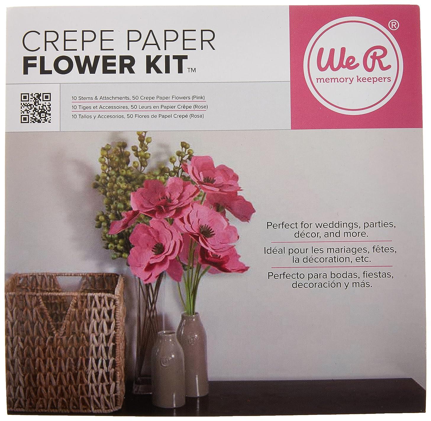 We R Memory Keepers Crepe Paper Flowers Pink