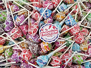 Dum Dums - Delicious Assorted Lollipops Watermelon Strawberry Bubble Gum Mystery Blue Raspberry and more - 2 lbs Bulk Candy with Refrigerator Magnet