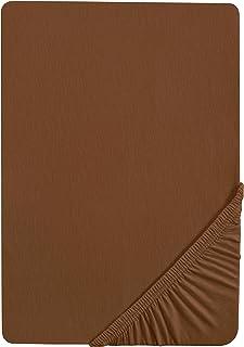 Castell 0077113 Drap housse en Jersey extensible (hauteur du matelas max.22 cm) 1x 90x190 cm > 100x200 cm, Chocolat