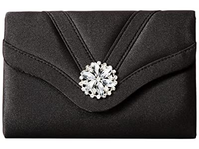 Jessica McClintock Alexis Clutch (Black1) Clutch Handbags