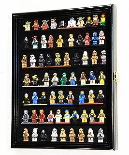 sfDisplay.com,LLC. 70 Lego Men/Legos/Mini Figures Minifigures/Display Case Cabinet Lockable (Black Finish)