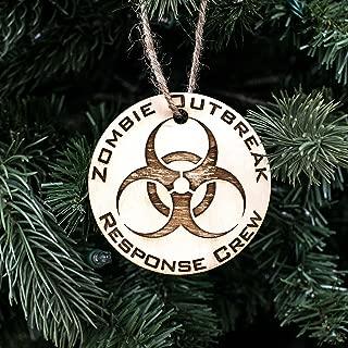 Ornament - Zombie Outbreak Response Crew - Raw Wood 3x3in