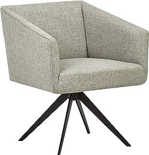 "Amazon Brand – Rivet Vibe Swivel Fabric Office Desk Chair, 25.2""W, Light Grey"