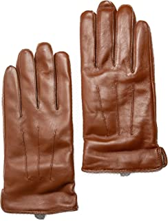 Men's 100% Pure Cashmere Lined Touchscreen Premium Sheepskin Leather Gloves, Gift Box by CANDOR AND CLASS