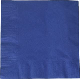 Amscan 50 Count 2-Ply Luncheon Napkins, Navy Blue (3 Pack of 50)