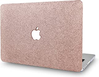 "KECC MacBOok Air 13"" Retina Funda (2019/2018, Touch ID) Dura Case Cover MacBook Air 13.3 Ultra Delgado Plástico {A1932} (Chispeante Oro Rosa)"