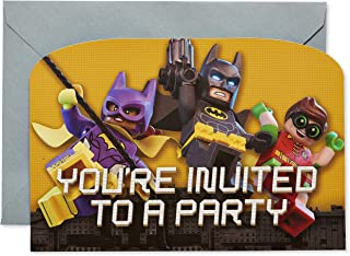 Personalised Lego Batman Siderman Birthday Party Invitations Party Invites