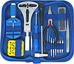 EZTool Watch Repair Kit with 16 Tools and 41-Page Illustrated Maintenance & Service Manual