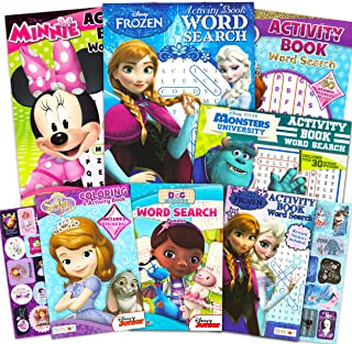 Disney Word Search Activity Book Bundle for Girls ~ 7 Disney Puzzle Books Featuring Frozen, Minnie Mouse, Monsters Inc, an...