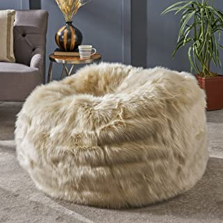 49efc89a9240 Amazon.com  Beige - Bean Bags   Game   Recreation Room Furniture ...