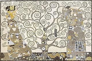 Klimt Tree of Life Marble Mosaic Tiles Wall Backsplash Bath Home Decor Motif Mural Art 147.5