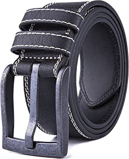 Men's Casual Dress Leather Belt for Jeans