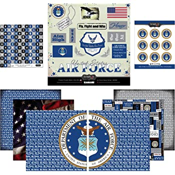 US Air Force Academy Falcons Scrapbook Kit Stickers Die Cut PICK FROM 4 ITEMS