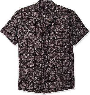 قميص رجالي Quiksilver مطبوع عليه THE OG Camp FLUID منسوج