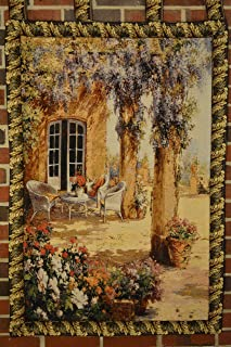 Tache 28 X 47 Inch Festive Picturesque Country Rustic Woven Spring Party Tapestry Wall Hanging Art Home Decor with Hanging Loops
