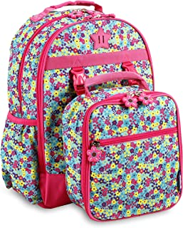 J World New York Kids' Duet Backpack with Detachable Lunch Bag Set, Floret, One Size
