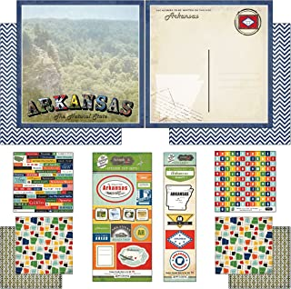 Scrapbook Customs Themed Paper and Stickers Scrapbook Kit, Arkansas Vintage