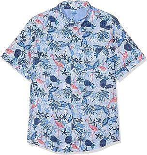 0f1250f153 Izod Men's Dockside Flamingo Print Ss Shirt Casual