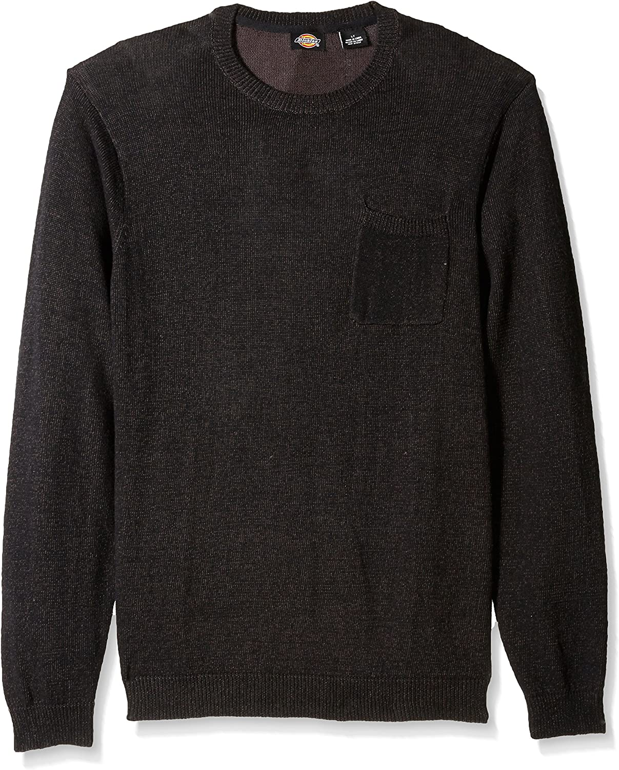 Dickies Men's Big and Tall Crew Pullover with Patch Pocket