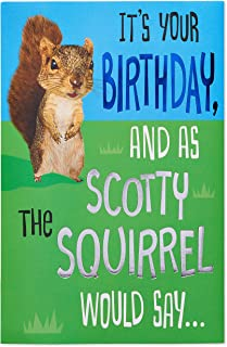 American Greetings Funny Birthday Card (Squirrel)