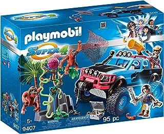 Playmobil-Monster Truck con Alex y Rock Brock Playset de figuras de juguete, multicolor, 12,5 x 38,5 x 28,4 cm 9407