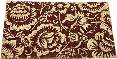 DII Folk Flowers Coir Doormat