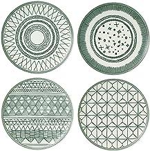 Royal Doulton Ellen DeGeneres Charcoal Grey Accent Side Plates 21cm, Set of 4, Porcelain, Multi