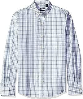 IZOD Men's Button Down Long Sleeve Stretch Performance Tattersal Shirt