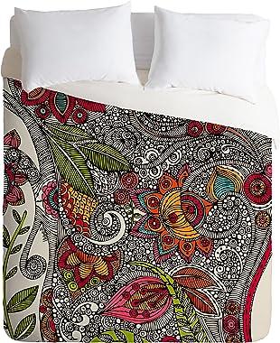 Deny Designs  Valentina Ramos Random Flowers Duvet Cover, King