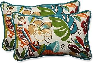 Pillow Perfect Outdoor/Indoor Lensing Jungle Rectangular Throw Pillow (Set of 2)