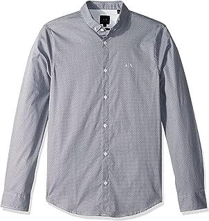 Men's Patterned Long-Sleeve Cotton Button Down