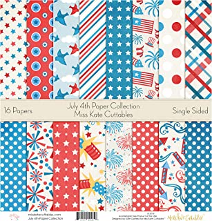 Pattern Paper Pack - July 4th - Scrapbook Premium Specialty Paper Single-Sided 12