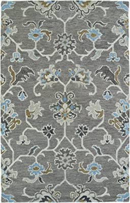 Kaleen Rugs Helena Hand Tufted Area Rug Grey Light Blue 10 X 14 Furniture Decor