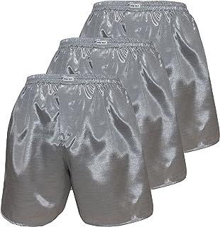 Thai Silk Set of 3 Men's Comfort Sleep Underwear Boxer Shorts