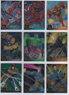 1995 Marvel Flair Annual Chromium Insert Set of 12 Cards NM/M X-Men, Spider-Man