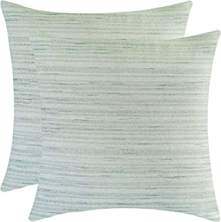The White Petals Sage Green Euro Sham Covers for Bed (26x26 inch, Pack of 2)
