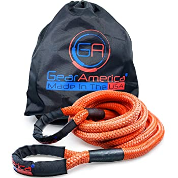 with 2 Spectra Fiber Soft Shackles 3//8 x 6 35000 lbs Red 29,300 lbs Miolle 7//8 x 30 Kinetic Recovery /& Tow Rope